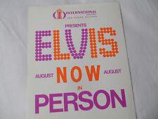 ELVIS Original__1970__LAS VEGAS 8x10 PROMO PHOTO___Int'l Hotel August NOW