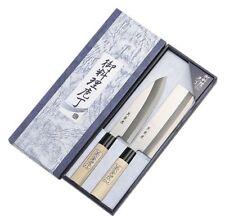New 2pcs Japanese Shimomura Brand Chef's Kitchen Hocho Knife Set SU-55 Japan