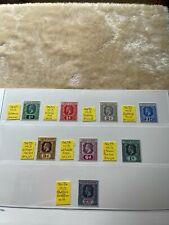 More details for british virgin islands - mint stamps - sg 69 - 76 (no 77)