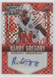 2015 Prizm Collegiate Draft Picks Red Power Prizms Randy Gregory Rookie Auto