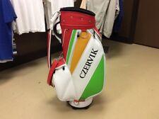 "Leather Golf Staff Bag Caddyshack ""Al Czervik"" (Rodney Dangerfields) Bushwood CC"