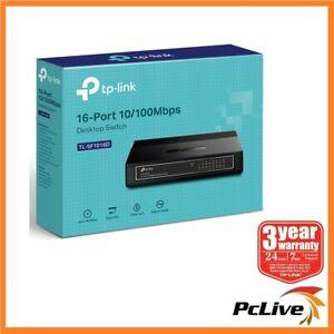 TP-Link TL-SF1016D 16 Port 100Mbps Network Switch Hub Green Ethernet Plug & Play