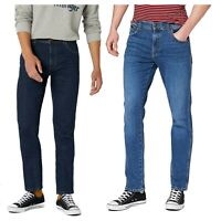 Mens Wrangler Texas Stretch Slim Fit Jeans Casual Dark Indigo Blue Denim Pants