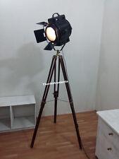 THEATER HOLLYWOOD DESIGNER NAUTICAL SPOT LIGHT TRIPOD  LAMP MODERN SEARCHLIGHT