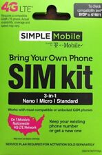 Sealed Simple mobile 3-in-1 Sim Card Kit : Fast Same day ship out Free Shipping