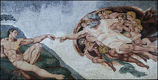 Creation Of Adam Artistic Figure Home Decor Marble Mosaic FG698