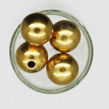Memory Wire 5mm Bead Tip End Stopper Goldtone Pack of 10