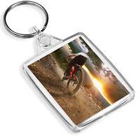 Awesome Mountain Biking Keyring Downhill Racer Bike Cycling Cool Gift #16150
