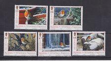 ISLE OF MAN MNH UMM STAMP SET 2004 CHRISTMAS ROBINS SG 1185-1189