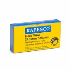 Rapesco 24/6mm GRAFFETTE - FILO RIGIDO galvanizzato (Box 1,000) Code: 1164