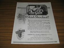 1921 Vintage Ad Weed Tire Chains for Cars American Chain Co Bridgeport,CT