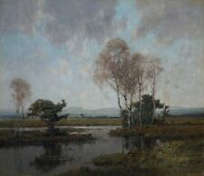 H. Bauer *1892 Ölgemälde Ölbild alt antik Romantik Impressionismus Landschaft