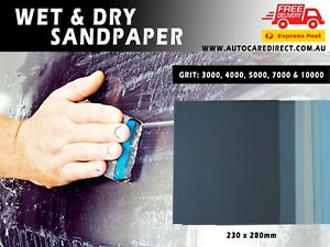 Wet and Dry Sandpaper 230x280mm from 60-2500, 3000, 4000, 5000, 7000, 10000 Grit