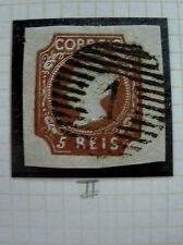 Portugal Rare Stamp - 1853 Queen Maria II, 5 Reis,  Cunho II
