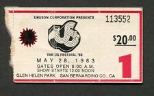 1983 US Festival Concert Ticket Stub The Clash INXS Men at Work Wozniak Graham
