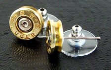 9mm Luger Bullet Earrings