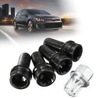 5pcs Wheel Bolt Nut Locking Lug Cap Key 8D0601139F For VW Golf Jetta Passat Audi
