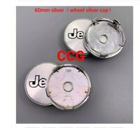 4pcs 60mm Car logo Wheel Center Cap rim Badge dust-proof covers A 60 silver JP C