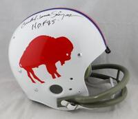 Orenthal James Simpson Signed Bills F/S TK 65-73 Helmet HOF- JSA W Auth *Blk