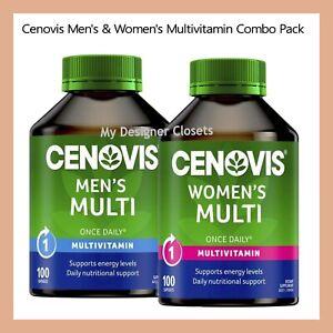 Cenovis Men's & Women's Multi Vitamins & Minerals Combo Pack 100 Capsules