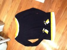 Tommy Hilfiger Navy Yellow White Sweater Small