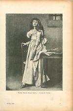 Madame Roland par Goupil Peintre Révolution Française GRAVURE ANTIQUE PRINT 1906