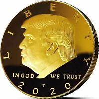 Donald Trump 2020 45th President Gold Liberty Coin! (9 Coin's)