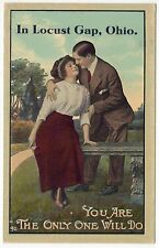 Locust Gap Ohio Pc Postcard You Are The Only One Will Do Couple Love Romance Oh