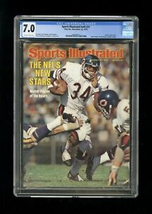 SPORTS ILLUSTRATED NEWSSTAND 1976 WALTER PAYTON CGC 7.0 FIRST ROOKIE COVER