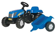 New Holland T7040 Pedal Tractor with Trailer Part# 73322347