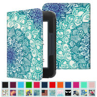 Folio Leather Case Cover Stand for Barnes&Noble NooK GlowLight 3 eReader 2017