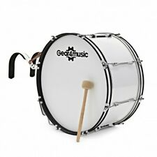 More details for 24'' x 12'' marching bass drum with carrier by gear4music