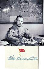 General Walter Bedell Smith WWII Chief Staff, CIA Director, Autograph ''Rare''