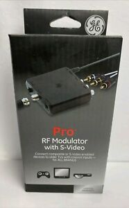 NEW GE Pro RF Modulator with S-Video For All Brands #38806 FREE SHIPPING