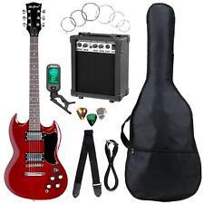 Top Einsteiger E-Gitarre Set Cherry Red mit Verstärker, Tuner, Gigbag & Gurt