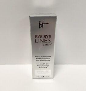 IT Cosmetics Bye Bye Lines Advanced Wrinkle Smoothing Serum 1 oz - New in Box
