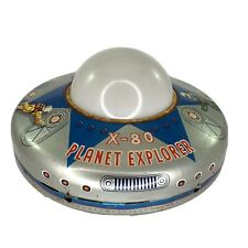 Planet explorer x80 Vintage 1965 Spaceship Tin Toy WORKS! Astronaut Space Craft