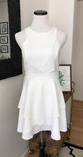 Lulus Adelyn Rae Ivory Bridal Shower Wedding Dinner Short Dress S