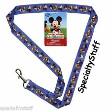 "NEW DISNEY ""MICKEY"" MOUSE 18"" LANYARD KEY RING BLUE CLUBHOUSE 3+ (MMLAN-Z)  (PD)"