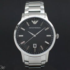 Emporio Armani Men's Stainless Steel Bracelet Strap Watch AR2457 Silver