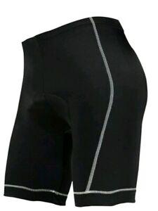 New Zero Bike Comfort Zone Padded Cycling Bike Shorts Size XL Black & White