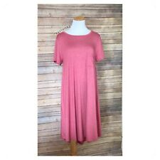 LULAROE carly heathered red dress Medium Med M NEW NWT