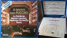 A teatro con Puccini TOSCA BOHEME BUTTERFLY MANON LESCAUT VINTAGE'70 LIRICA 33g