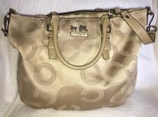 COACH Madison Dotted Op Art EMMA Convertible Satchel Bag Purse Handbag-15939