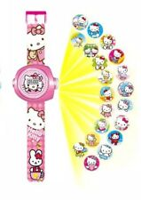 Hello Kitty Picture Projection Digital Wrist Watch Kids Novelty Christmas Gift