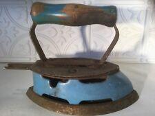 Vintage Coleman Blue Enamel 4A Fuel Powered Iron