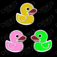 Genuine 925 Sterling Silver Duck Stud Earrings  Mini Studs Girls Bird