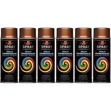 6 Lackspray Farbe Kupfer Kupferspray Kupferfarbe Sprühfarbe 400ml Felgenspray