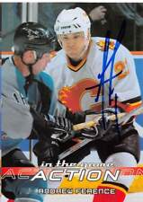 ANDREW FERENCE FLAMES AUTOGRAPH AUTO 03-04 IN THE GAME ACTION #6 *51881