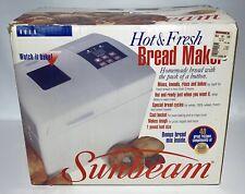 Sunbeam Bread & Dough Maker 1lb Hot & Fresh 4810 New Open Box 1994